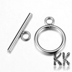 304 stainless steel American fastening - circle - 20.5 x 15.5 x 2 mm