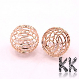 Iron cage for beads with eyelet - Ø 10 x 12 mm