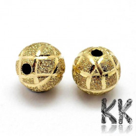 Brass separating bead - ball with decor - Ø 8 mm