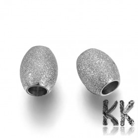 304 stainless steel separating bead - barrel - 6 x 5 mm