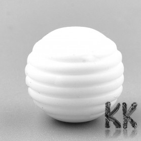 Food silicone beads - striped ball - 15 x 14 mm