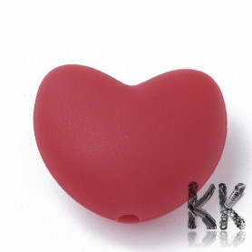 Food silicone beads - heart - 16 x 19 x 10 mm