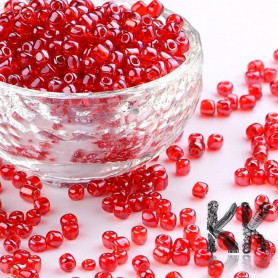 Chinese seed beads - 6/0 - opaque with pearlescent luster - weight 1 g