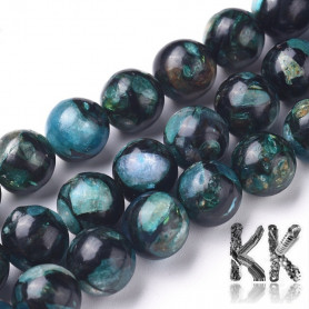 Synthetic bronze mixed with synthetic kyanite - Ø 8 - 8.5 mm - colored balls