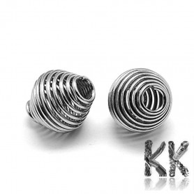 340 stainless steel bead cage - Ø 11 x 10 mm