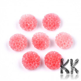 Synthetic coral - dyed lotus flower - 15 x 16 x 9.5 mm