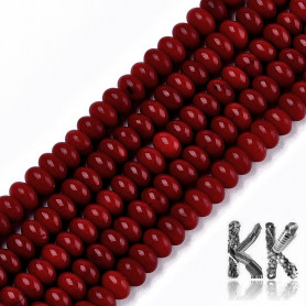 Synthetic bamboo coral - 6 - 6.5 x 4 mm - colored roundels