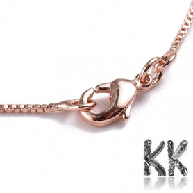 Brass necklace chain with carabiner - length 42 cm