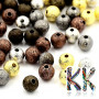 Brass beads with a shimmering surface with a diameter of 6 mm.THE PRICE IS FOR 1 PCS.