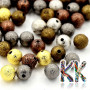 Brass beads with a shimmering surface with a diameter of 8 mm. THE PRICE IS FOR 1 PCS.