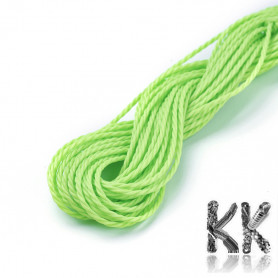 Braided and Waxed Polyester Cord - Ø 1 mm - roll 8-9 m
