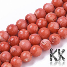 Sea Bamboo Coral (Imitation Coral) Dyed - Round Beads - Ø 8 mm, Hole: 1 mm