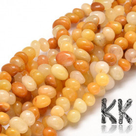 Natural Topaz Jade Beads - Nuggets - 6-10 x 9-12 x 8-10 mm, Hole: 1 mm