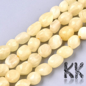 Natural Topaz Jade Beads - nuggets - 5-11 x 5-8 x 3-6 mm, Hole: 0,8 mm
