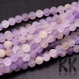 Natural Frosted Amethrine - RoundBeads - Ø 6 mm, Hole: 1 mm