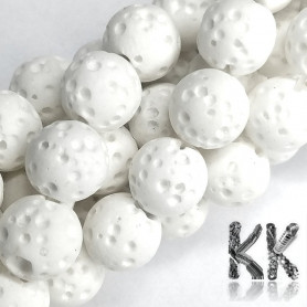 Synthetic Lava - Round Dyed Beads - Ø 8 mm, Hole: 1 mm