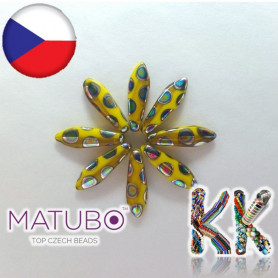 MATUBO ™ LANGUAGES - opaque with metallized rings - 5 × 16 mm