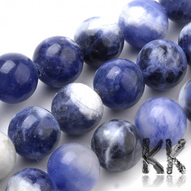 Natural South Africa Sodalite - Round Beads - Ø 8 mm - ball