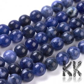 Natural Sodalite - Round Beads - Ø 8 mm, Hole: 1 mm - Grade A