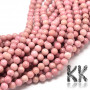 Tumbled round beads made of rhodonite mineral with a diameter of 6 mm with a hole for a thread with a diameter of 1 mm. The beads are completely natural without any dye. Country of origin: Brazil THE PRICE IS FOR 1 PCS.