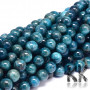 Tumbled round beads made of natural mineral apatite with a diameter of 10 mm with a hole for a thread with a diameter of 1 mm. The beads are completely natural without any dye. Country of origin: Madagascar THE PRICE IS FOR 1 PCS.