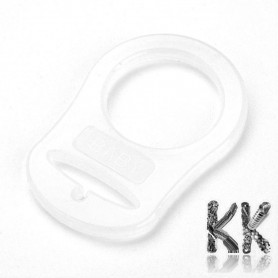 Food Grade Silicone Baby Pacifier Holder Ring -  48 x 32 x 3 mm, Hole: 22 mm
