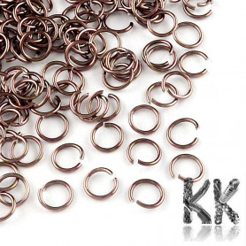 Aluminum Wire Open Jump Rings - Ø 6 x 0.8 mm - Package of approx. 10 g