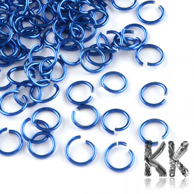 Aluminum Wire Open Jump Rings - Ø 10 x 1 mm - Package of approx. 10 g
