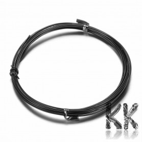 Varnished Aluminum Colored Wire - Ø 1 mm - coil 10 m