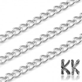 304 Stainless Steel Chain - Eye: 4 x 3 x 0.7 mm - coil 10 meters