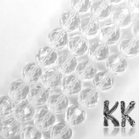 Czech Crystal Glass - Faceted Round Beads - Ø 8 mm, Hole: 1 mm
