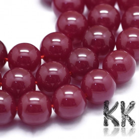 Natural ruby - Round Beads - Ø 8 mm, Hole: 1 mm