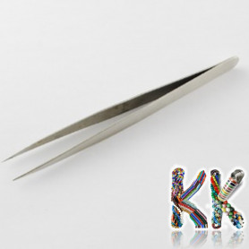 Stainless steel tweezers - straight with tip - 135 x 9 x 5 mm