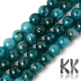 Natural Chalcedony - Apatite Imitation - Dyed & Heated Round Beads - 8.5 x 8 mm, Hole: 1,2 mm
