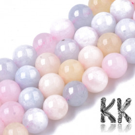Natural Chalcedony - Imitation Beryl - Dyed & Heated Round Beads - 8.5 x 8 mm, Hole: 1 mm
