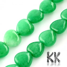 Natural Malaysian Jade - Dyed Heart Beads - 10 x 10 x 5 mm, Hole: 1 mm