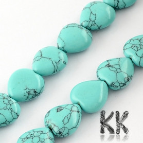 Synthetic Turquoise - Heart Beads - 10 x 10 x 5 mm, Hole: 1 mm