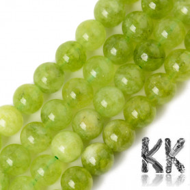 Natural Chalcedony - Imitation Peridote - Dyed & Heated Round Beads - 8.5 x 8 mm, Hole: 1,2 mm