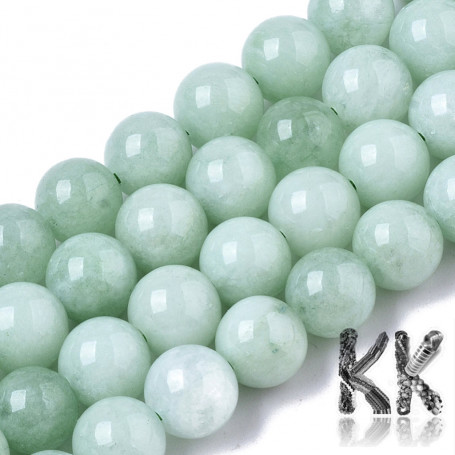 Natural Chalcedony - Imitation Jade - Dyed & Heated Round Beads - 8.5 x 8 mm, Hole: 1 mm
