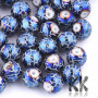 Opaque glass beads in size 8-8.5 mm, with a hole for a thread with a diameter of 1.5 mm. Beads are surface-plated with a crackle pattern in the appropriate color shade. THE PRICE IS FOR 1 PCS.