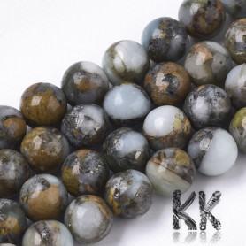 Assembled Semi-Synthetic Regalite with Natural Larderite - Round Beads - Ø 8 mm, Hole: 1 mm