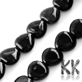Natural Onyx - Dyed Heart Beads - 10 x 10 x 5 mm, Hole: 1 mm