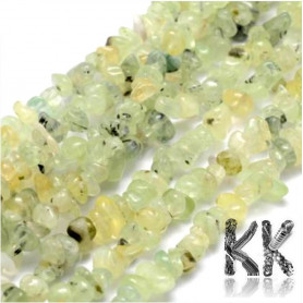 Natural Prehnite - Chips - 5-8 mm, Hole: 1 mm - Weight 1 g (approx. 1.5 cm)