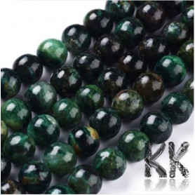 Natural Green Mica - Round Beads - Ø 8 m, Hole: 0.8 mm
