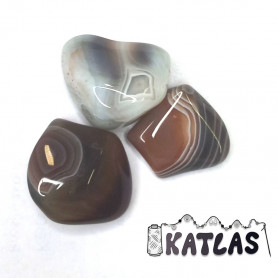 Natural Botswana Agate - Undrilled Stone - 20 - 36 x 18 - 25 mm