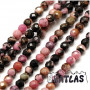 Tumbled and faceted beadsmadeof natural rhodonite mineral with a diameter of 2 mm with a hole for a thread with a diameter of 0.8 mm. The beads are completely natural without any dye. Country of origin China THE PRICE IS FOR 1 PCS.