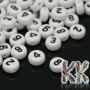 Beads with numbers made of acrylic material with a diameter of 7 mm, a height of 4 mm and a hole for a thread with a diameter of 1.2 mm. THE PRICE IS FOR 1 PCS.