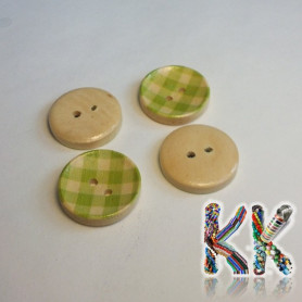 Wooden knob - with stripes - ∅ 20 x 4 mm