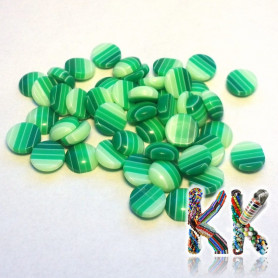 Resin seed - opaque striped - ∅ 8 x 3.5 mm