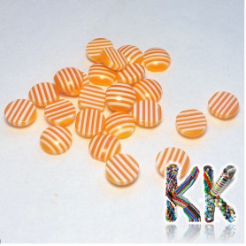 Resin seed - transparent striped two-tone - ∅ 8 x 3.5 mm
